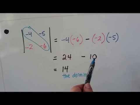 Algebra II  13.3a, Determinants of 2X2 Matrices