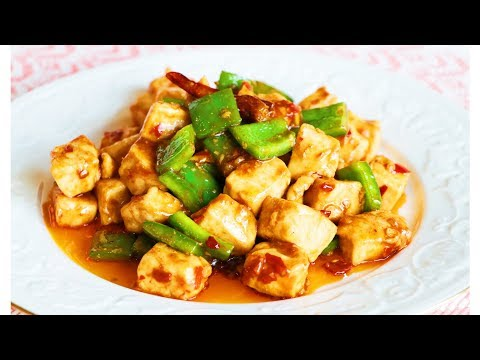 SPICY Chicken & Bell Pepper Stir-Fry 辣味雞丁 CiCi Li