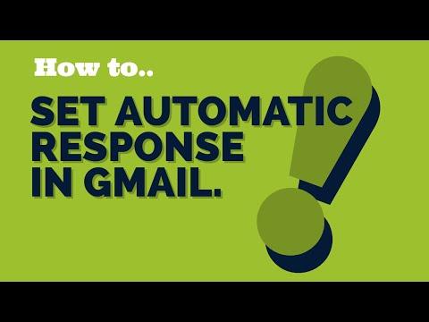 How to Setup Gmail Autoresponder Step By Step. vacation responder message
