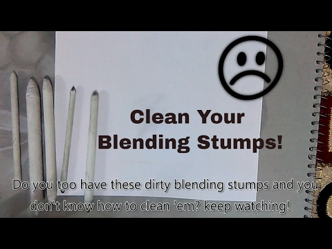 How to clean Dirty Blending Stumps / Paper Stumps / Tortillon Easily