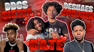 """I PUT MY LIL BROTHER ON A DATE WITH DDG SISTER """"Tee Tee""""!! *They Like Each other*"""
