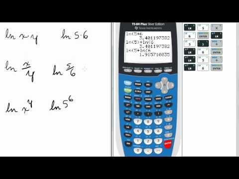 Natural Logs Laws on Calculator   TI 84 Calculator    Natural Logarithms