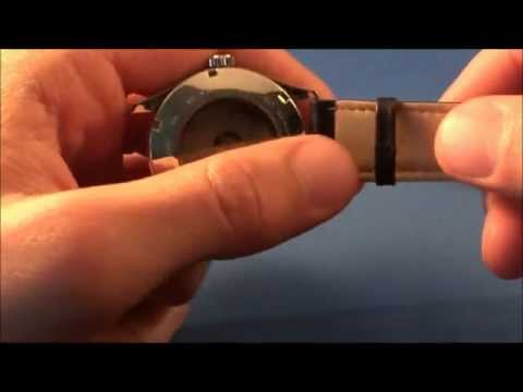 Replacing a leather watch strap