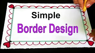 Easy Border Design On Paper  Kids Border Designs  Project Khata Designs