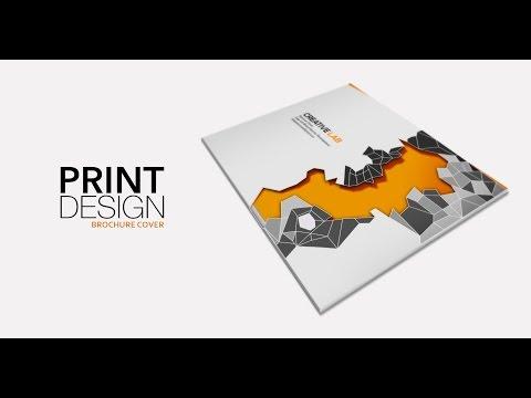 Print Design - Brochure Cover (part-1) - Adobe Illustrator cc