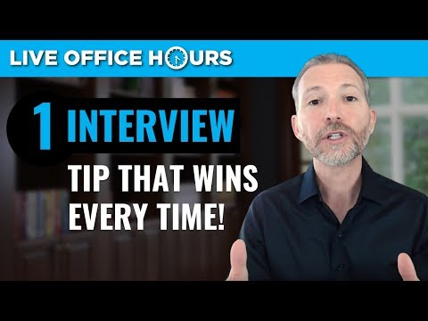 One Tip that Wins Every Job Interview: Live Office Hours: Andrew LaCivita