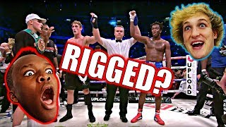 Reacting to the ksi vs logan paul Fight! (RIGGED!?)