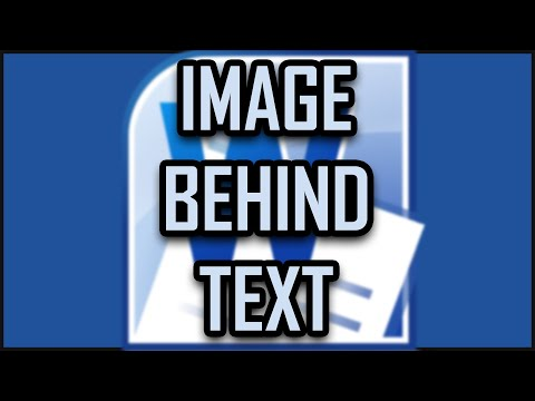 Microsoft Office Word - How to Put an Image Behind the Text