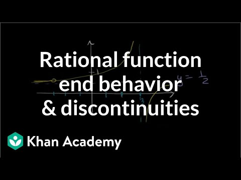 Finding horizontal and vertical asymptotes | Rational expressions | Algebra II | Khan Academy