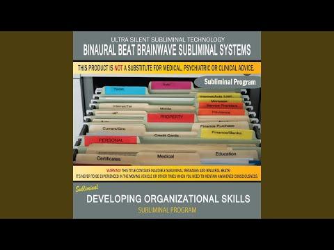 Developing Organizational Skills