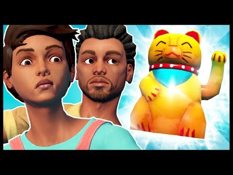SECRET LUCKY CAT FOUND BY ANGRY IDIOTS   Raft - Multiplayer Gameplay Funny Moments