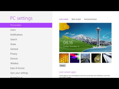 Fix Lock Screen and User Account Picture Problem in Windows 8