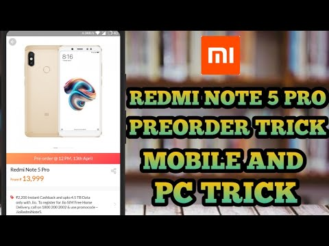redmi note 5 pro pre order booking   How to preorder from mi   pc and mobile trick