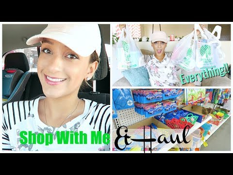 NEW! DOLLAR TREE SHOP WITH ME & HAUL | CLEANING, DOG, SUMMER 2018