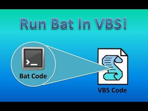 Run Batch In VBS!