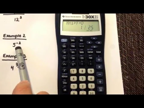 Exponents: Positive, Negative & Fraction Exponents using your Texas Instrument TI-30XIIS