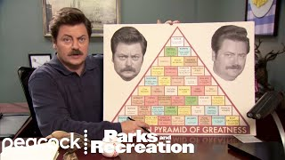 Ron Swanson's Pyramid of Greatness - Parks and Recreation