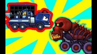 Костыль спасает друга в Хищные машины 3   Машина ест машину 3