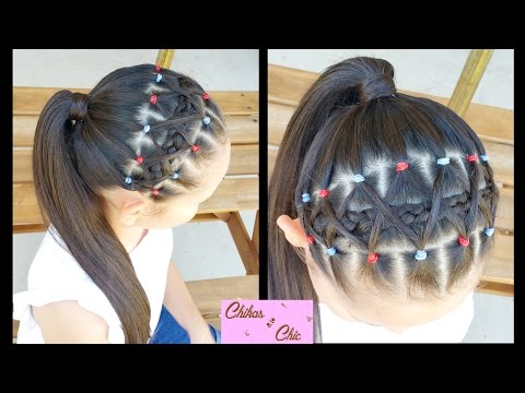 Elastic bands Braided Headband! | Hairstyles for school | Braided Hairstyles | Sport Hairstyles