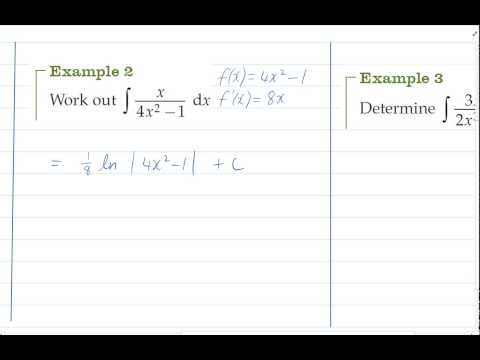 integrating quotient functions