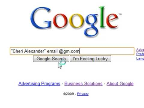 Use Google to Find Email Addresses for Business Research