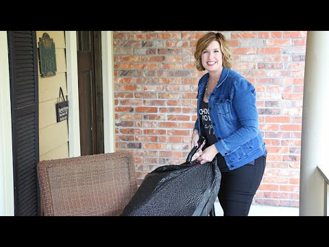 Easy How to Clean Dust From Outdoor Patio Cushions | Don't Look Under The Rug® with Amy Bates