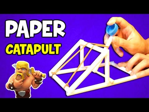 How to make a Catapult | Easy Paper Weapons
