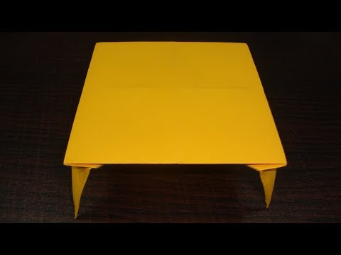 Paper table origami craft