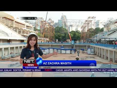 Intip Perkembangan Renovasi Stadion Kolam Berenang GBK Jelang ASIAN GAMES 2018 - NET12