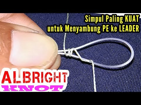 How to Connect PE Braid to Leader || ALBRIGHT Knot - PakVim
