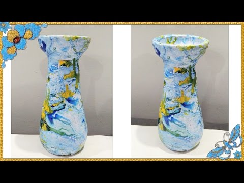 DIY- Marble look | Pot Painting | Enjoy Crafting # 44