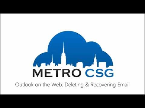 How-To: Delete and Restore Email in Outlook Web App