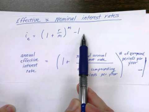 Nominal vs effective interest calculations