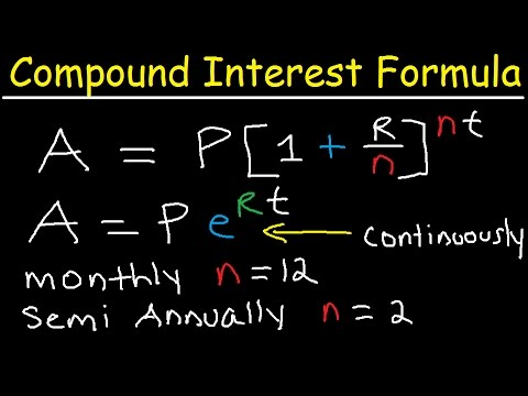 Compound Interest Formula Explained, Investment, Monthly & Continuously, Word Problems, Algebra