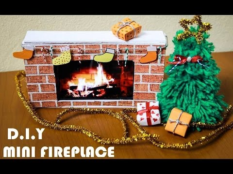 DIY - How To Make Christmas Fireplace For The Holidays