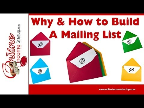 How To Build A Mailing List - Importance Of Building Your Mailing List Of Email Subscribers
