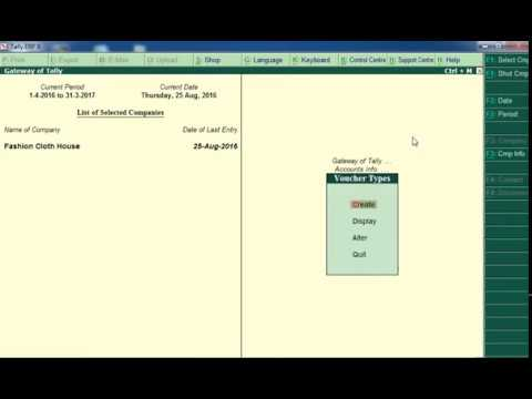 how to create POS voucher And entry In Tally