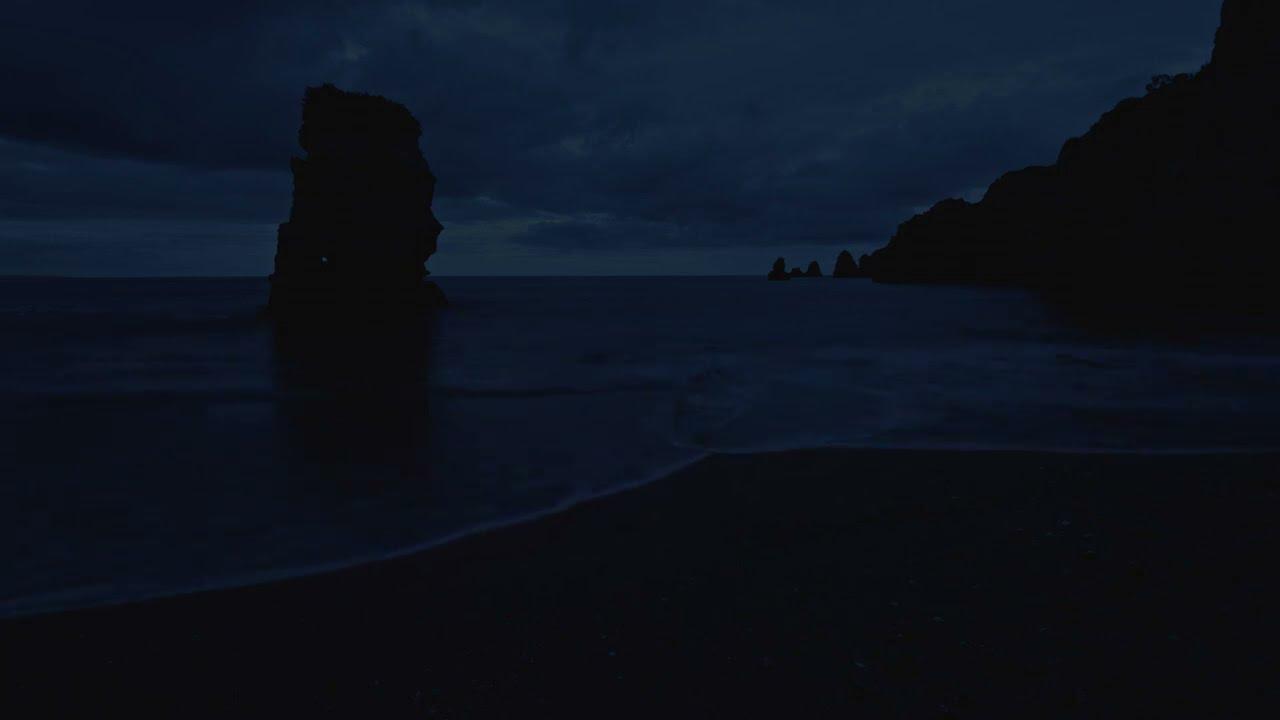 Sleep With Summer Night Waves at Dusk, Deep Sleep Video With Ocean Sounds