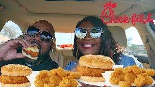Chick Fil A Mukbang! Best Breakfast Hands Down!