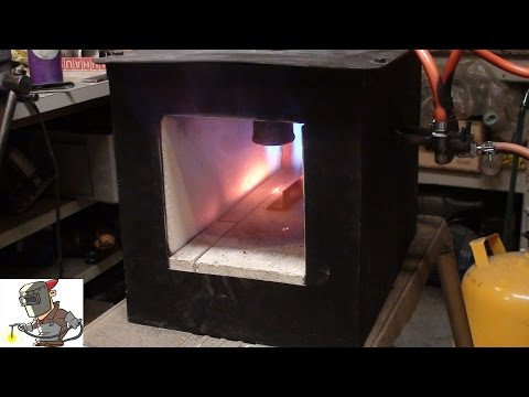 building a propane gas forge for blacksmithing