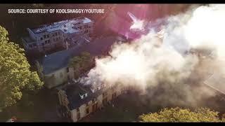 North Plainfield Villa Maria fire via drone