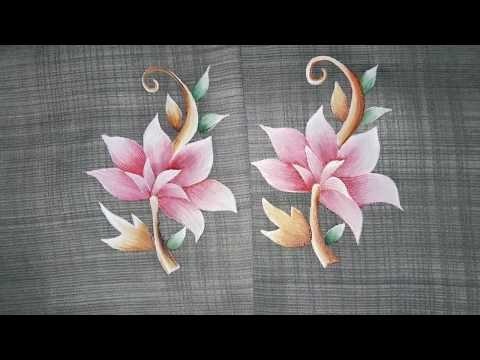 Fabric Painting Suits & Arms Designs | Latest 2018 Designs | Learn Painting Online