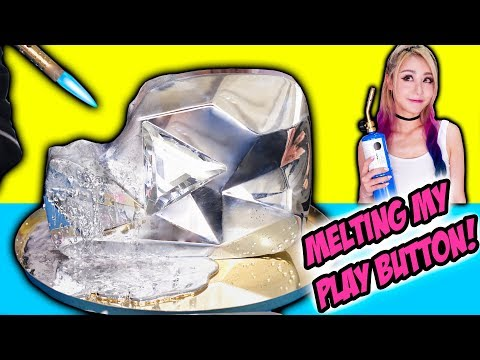 MELTING MY DIAMOND PLAY BUTTON! Learn To Make DIY Gallium Button, LEGO Minions Unicorn, Liquid Metal