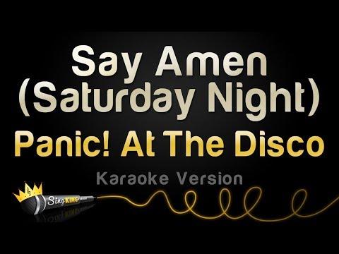 Panic! At The Disco - Say Amen (Saturday Night) (Karaoke Version)