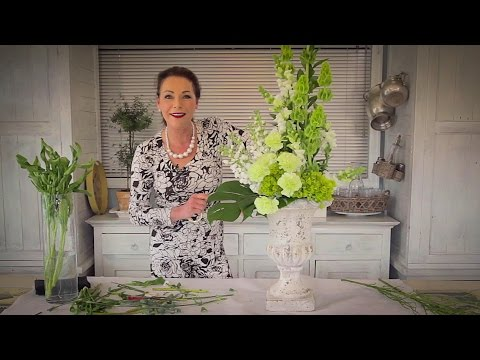 How to Arrange with Tall Stately Flowers Floristry Tutorial