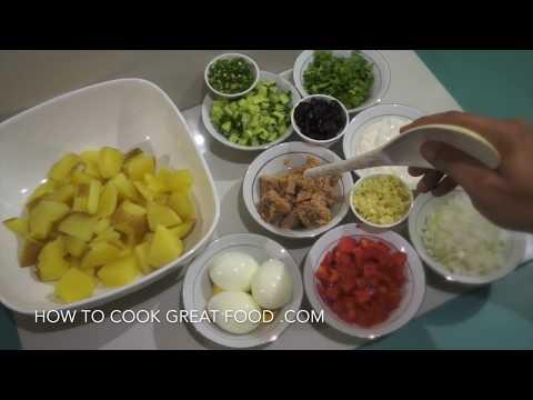Spicy Potato Tuna Egg Salad Recipe