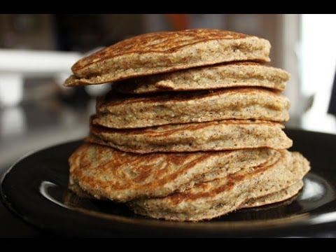 Making Banana Almond Oat Pancakes