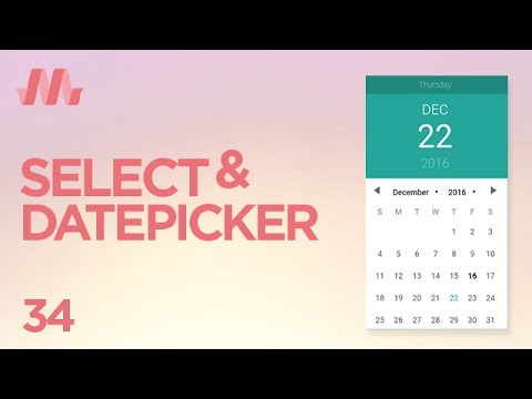 Curso Materialize CSS - Aula 34 - Forms (Select, Datepicker e Timepicker) #4