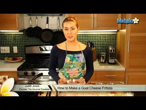 How to Make a Goat Cheese Frittata