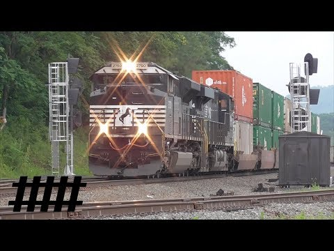 NS Railfanning at CP Lewis with MOW Rail Grinding on Switch Track PT 165.7 in Lewistown, PA